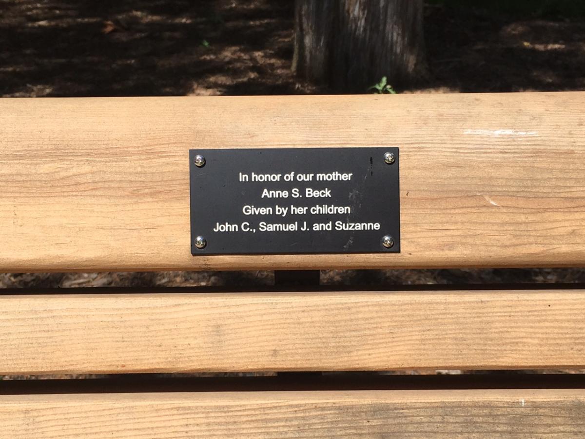Wooden Bench Plaque