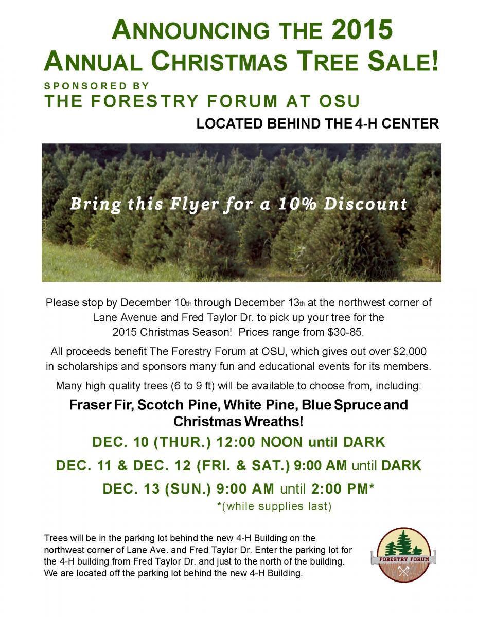 Forestry Forum Christmas Tree Sale | Chadwick Arboretum & Learning ...