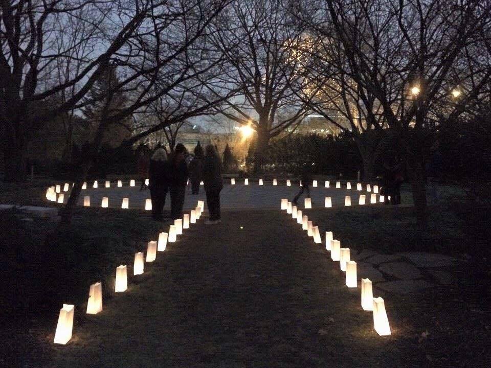 Photo of the Winter Solstice Labyrinth Walk